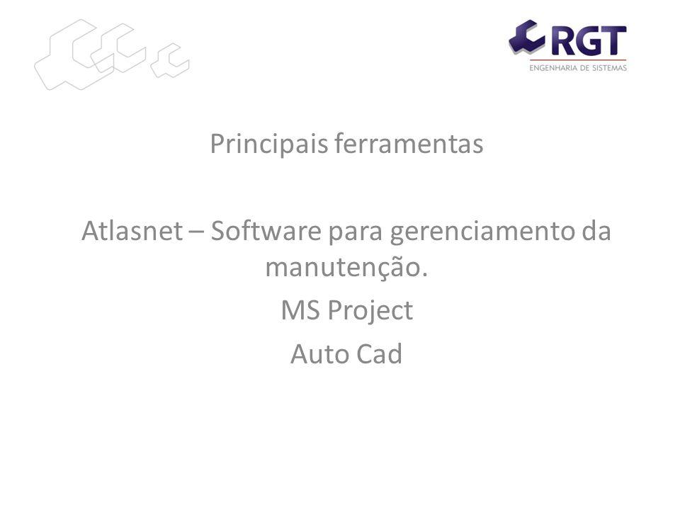 Principais ferramentas Atlasnet – Software para gerenciamento da manutenção. MS Project Auto Cad