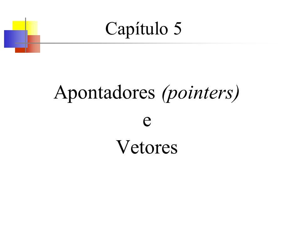 Capítulo 5 Apontadores (pointers) e Vetores