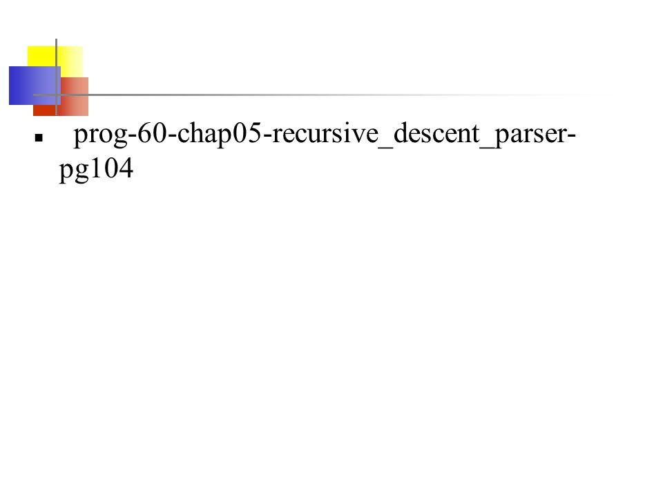 prog-60-chap05-recursive_descent_parser- pg104
