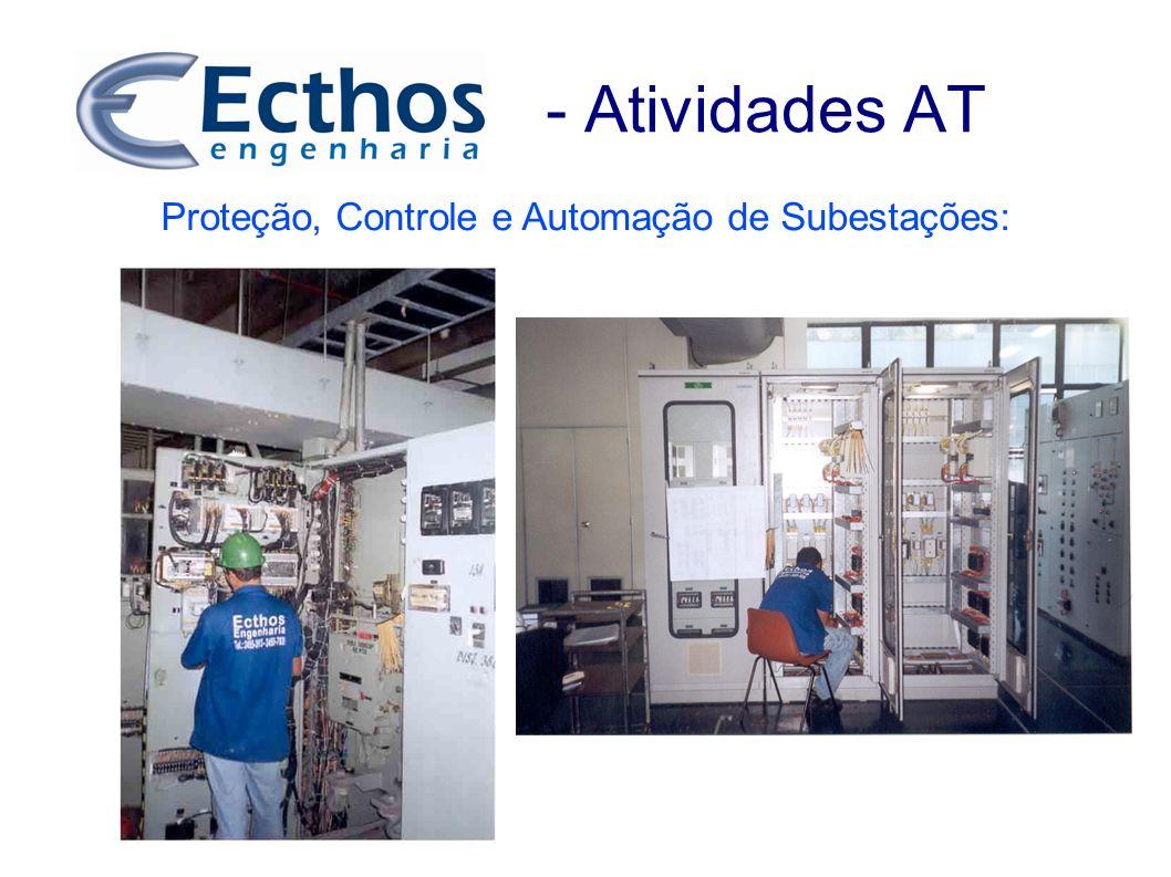 - Atividades AT Proteção, Controle e Automação de Subestações: