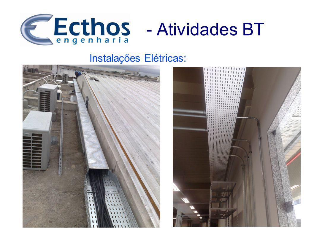 - Atividades BT Instalações Elétricas:
