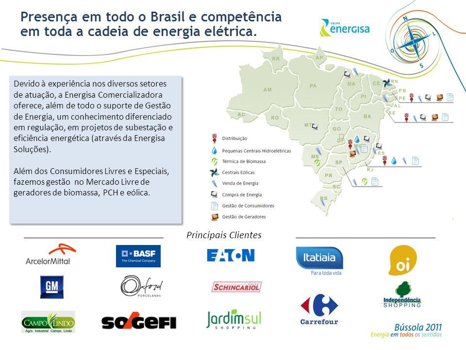 Presença em todo o Brasil e competência em toda a cadeia de energia elétrica. Devido à experiência nos diversos setores de atuação, a Energisa Comerci