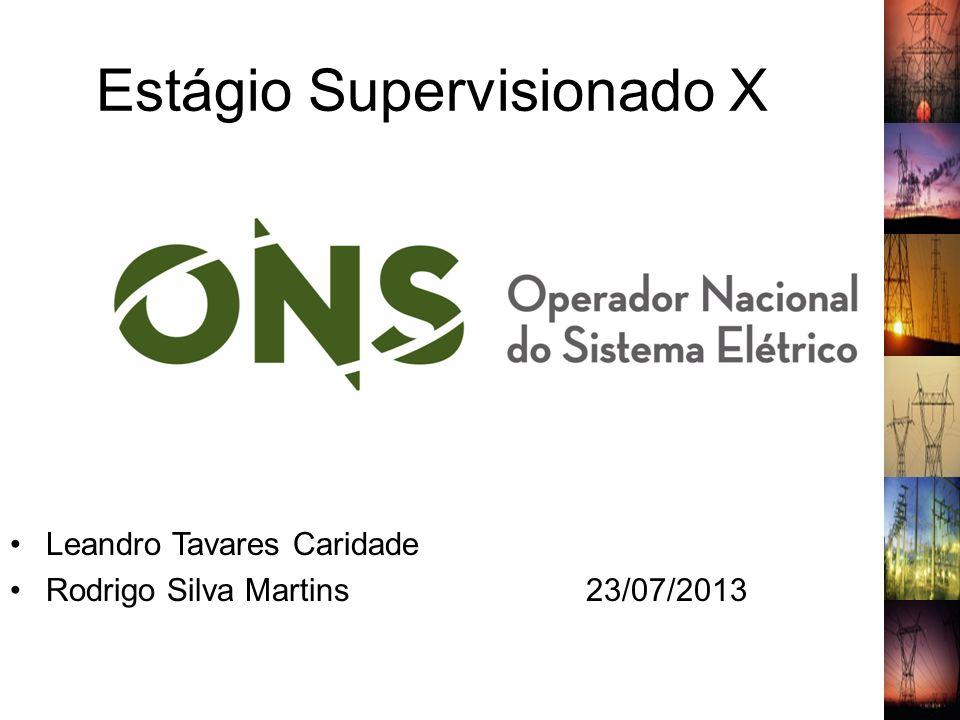 Estágio Supervisionado X Leandro Tavares Caridade Rodrigo Silva Martins23/07/2013 1