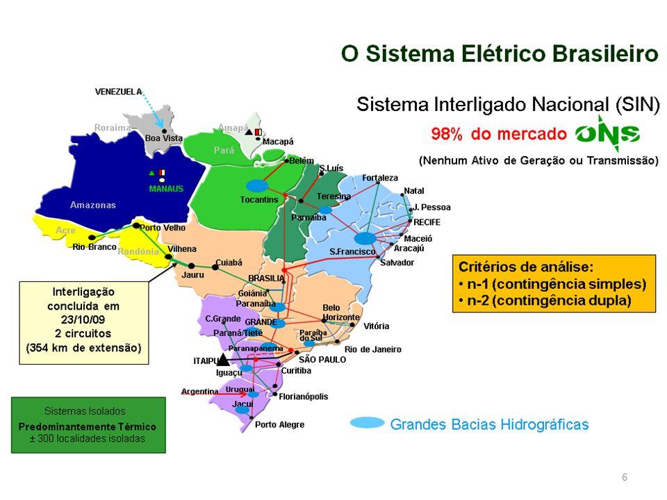 7 Complexo do Rio Madeira 6.450 MW, 2.375 km AC / CC UHE Belo Monte 11.231 MW, 2.500 km CC O Sistema Elétrico Brasileiro – Próximos Passos e Desafios