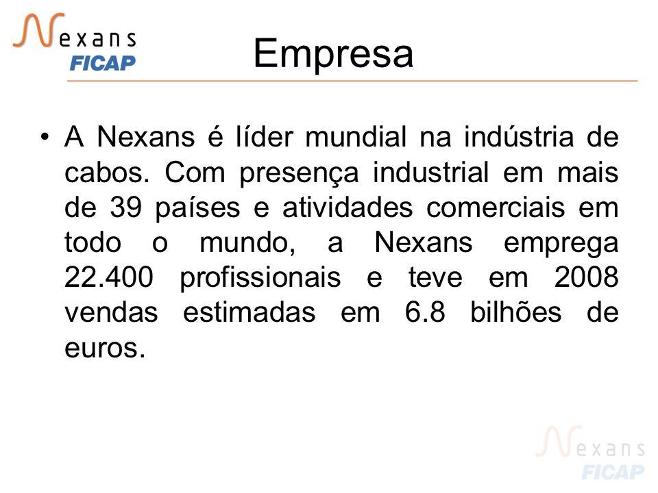 Empresa A Nexans é líder mundial na indústria de cabos.