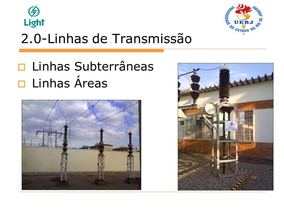 2.0-Linhas de Transmissão Linhas Subterrâneas Linhas Áreas