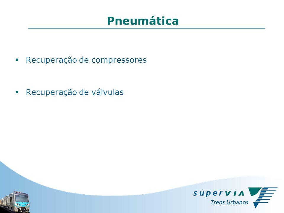 Pneumática Recuperação de compressores Recuperação de válvulas