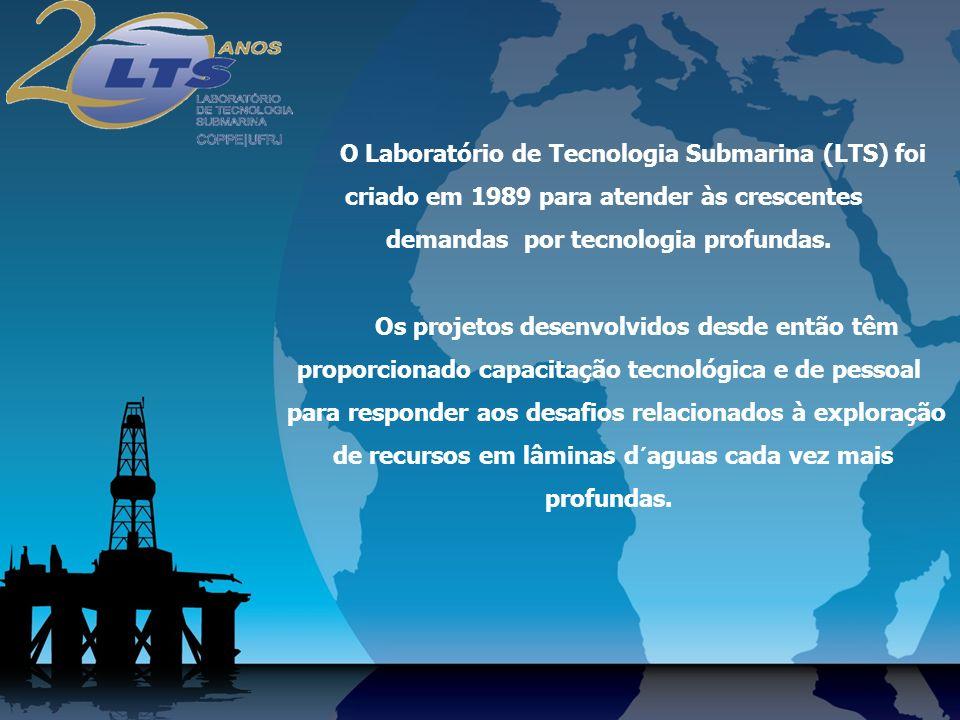 O Laboratório de Tecnologia Submarina (LTS) foi criado em 1989 para atender às crescentes demandas por tecnologia profundas.