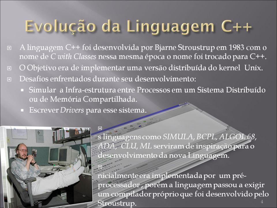 A s linguagens como SIMULA, BCPL, ALGOL 68, ADA, CLU, ML serviram de inspiração para o desenvolvimento da nova Linguagem.