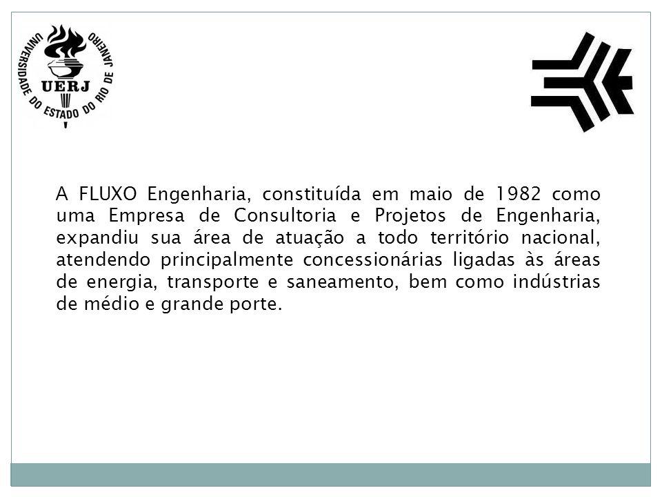 A FLUXO Engenharia, constituída em maio de 1982 como uma Empresa de Consultoria e Projetos de Engenharia, expandiu sua área de atuação a todo território nacional, atendendo principalmente concessionárias ligadas às áreas de energia, transporte e saneamento, bem como indústrias de médio e grande porte.