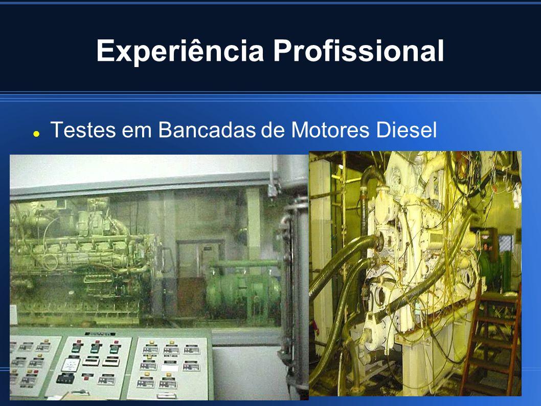 Experiência Profissional Testes em Bancadas de Motores Diesel