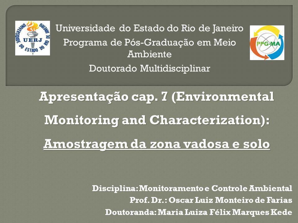 Disciplina: Monitoramento e Controle Ambiental Prof.