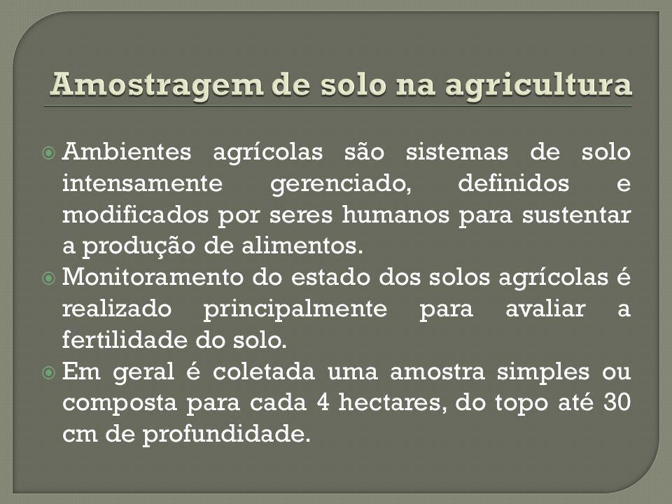 Ambientes agrícolas são sistemas de solo intensamente gerenciado, definidos e modificados por seres humanos para sustentar a produção de alimentos.