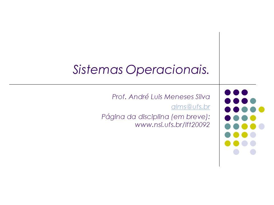 Sistemas Operacionais. Prof.