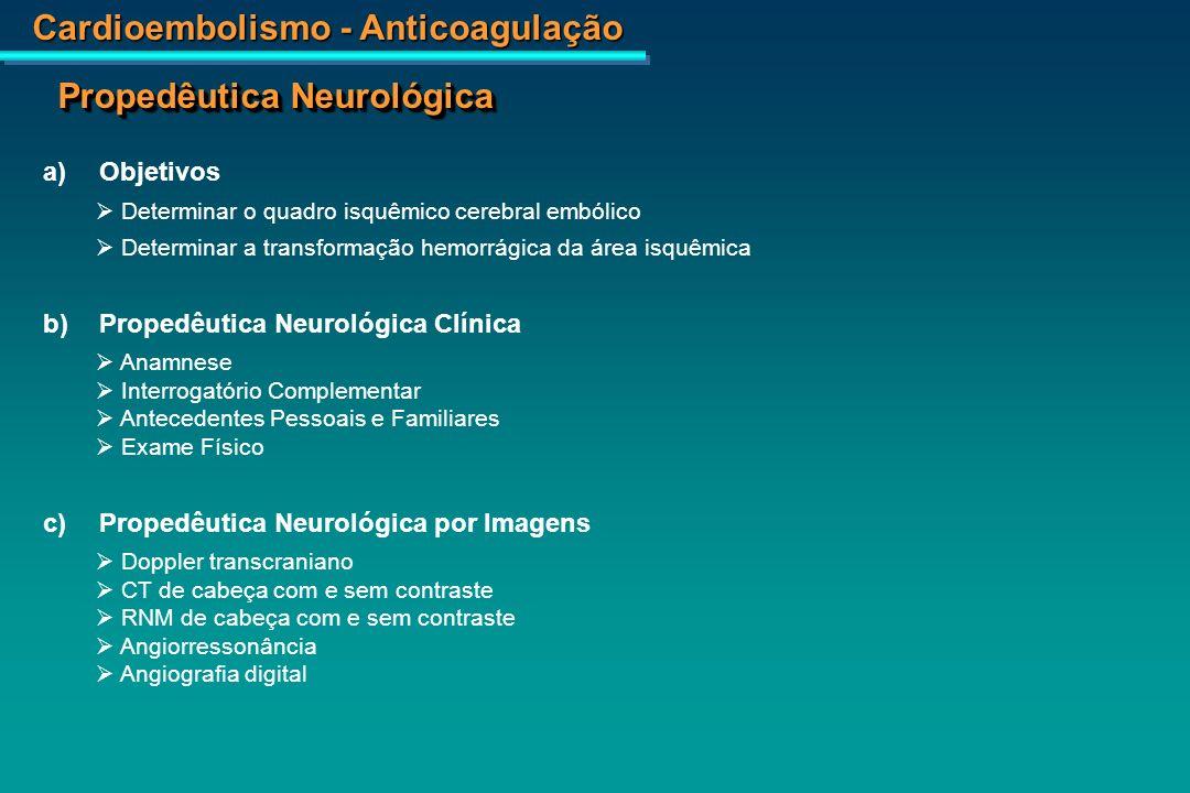 Cardioembolismo - Anticoagulação RNM – AVE temporal direito após a injeção do contraste (realce devido a revascularização)