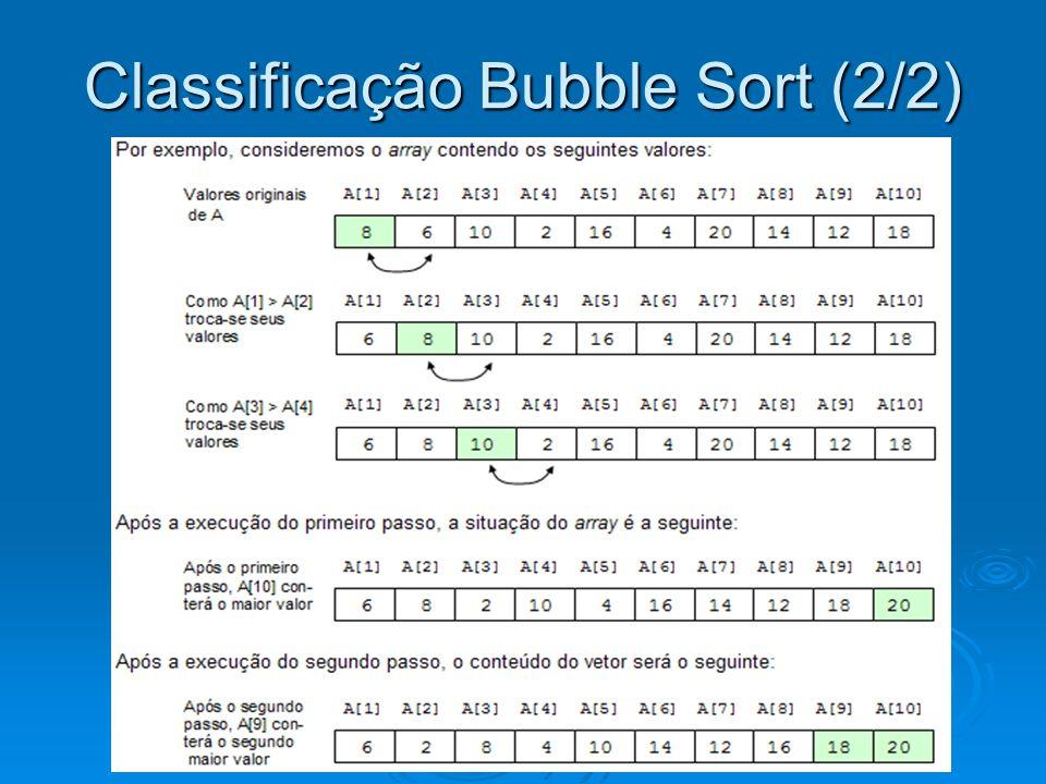 Algoritmo Bubble Sort
