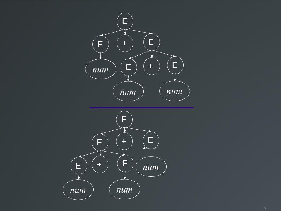8 Gramáticas ambíguas Problemáticas para compilação Qual é a estrutura gramatical escolhida.