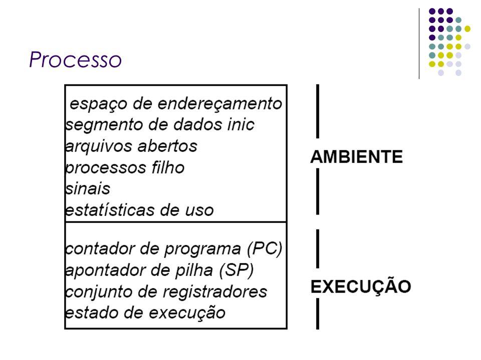 Características: Cada processo possui um identificador único, conhecido como pid (process id).