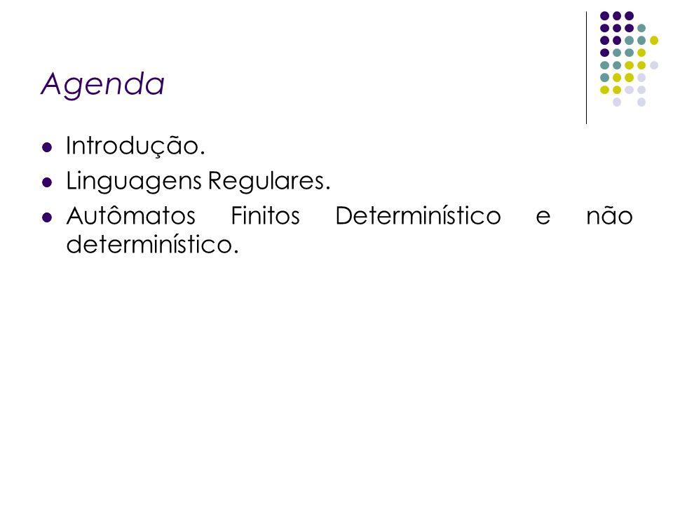 Introdução Linguagens Uma Linguagem Formal é um conjunto de palavras sobre um alfabeto.