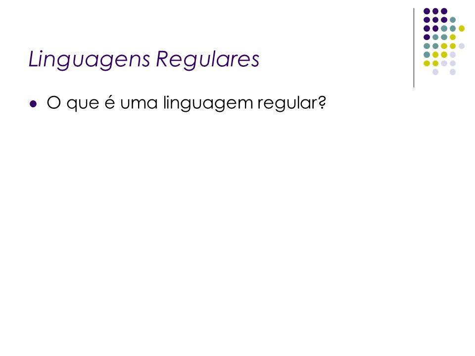 Linguagens Regulares O que é uma linguagem regular.