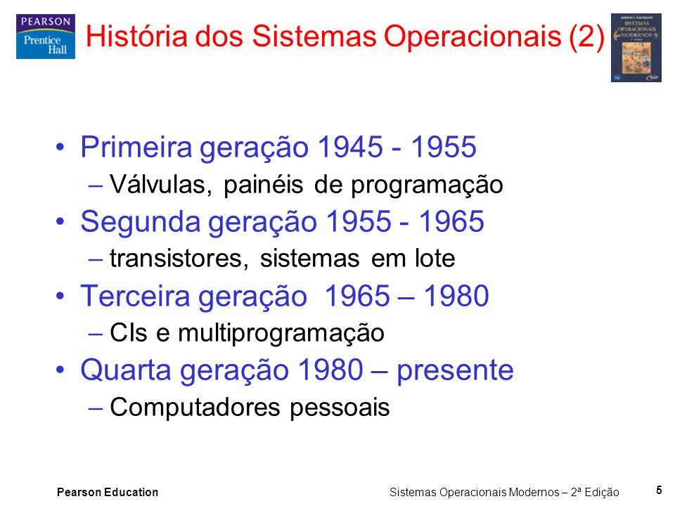 Pearson Education Sistemas Operacionais Modernos – 2ª Edição 16 Estrutura de Sistemas Operacionais (2) Estrutura do sistema operacional THE