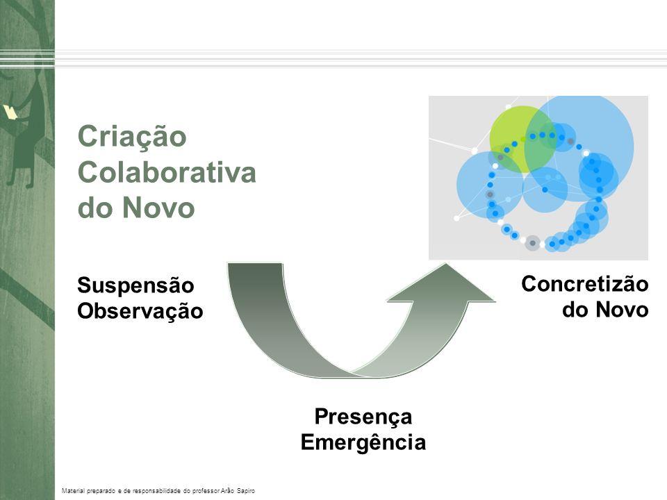 Material preparado e de responsabilidade do professor Arão Sapiro Criação Colaborativa do Novo Suspensão Observação Presença Emergência Concretizão do