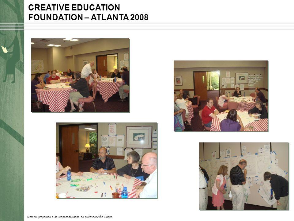 Material preparado e de responsabilidade do professor Arão Sapiro CREATIVE EDUCATION FOUNDATION – ATLANTA 2008