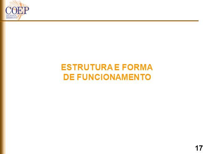ESTRUTURA E FORMA DE FUNCIONAMENTO 17