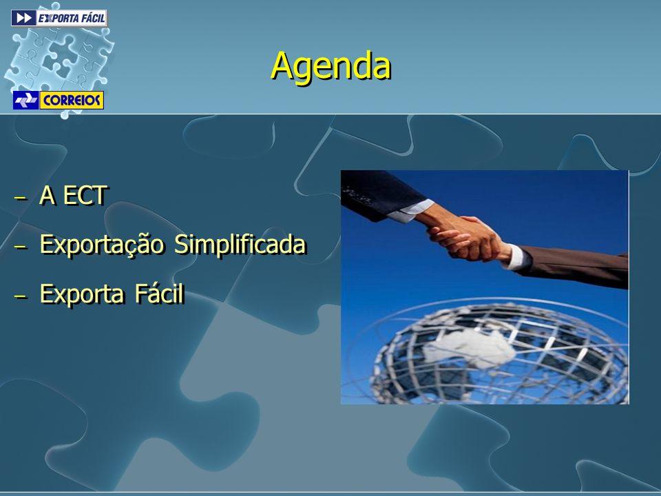 Agenda – A ECT – Exporta ç ão Simplificada – Exporta Fácil – A ECT – Exporta ç ão Simplificada – Exporta Fácil