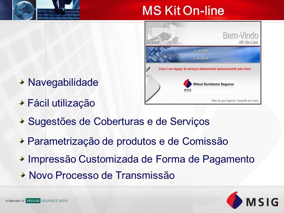 Navegabilidade Fácil utilização Sugestões de Coberturas e de Serviços Parametrização de produtos e de Comissão Impressão Customizada de Forma de Pagam