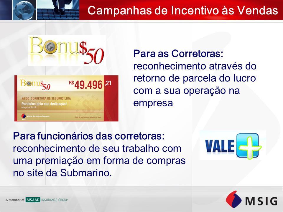 Campanhas de Incentivo às Vendas Para as Corretoras: reconhecimento através do retorno de parcela do lucro com a sua operação na empresa Para funcioná