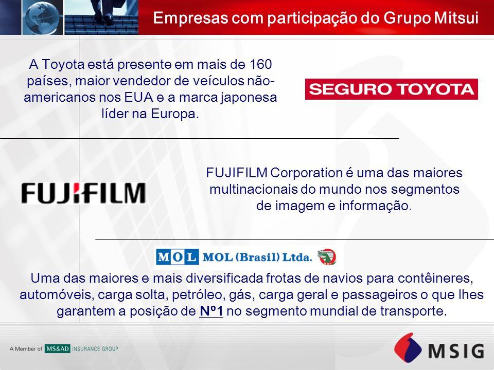 FUJIFILM Corporation é uma das maiores multinacionais do mundo nos segmentos de imagem e informação. A Toyota está presente em mais de 160 países, mai