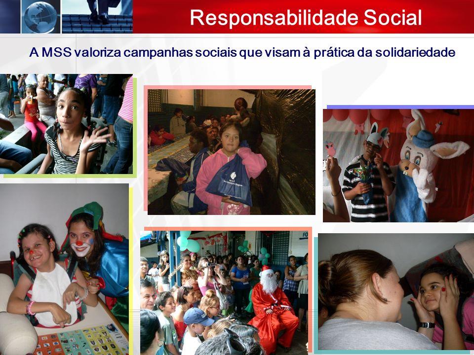 Responsabilidade Social A MSS valoriza campanhas sociais que visam à prática da solidariedade