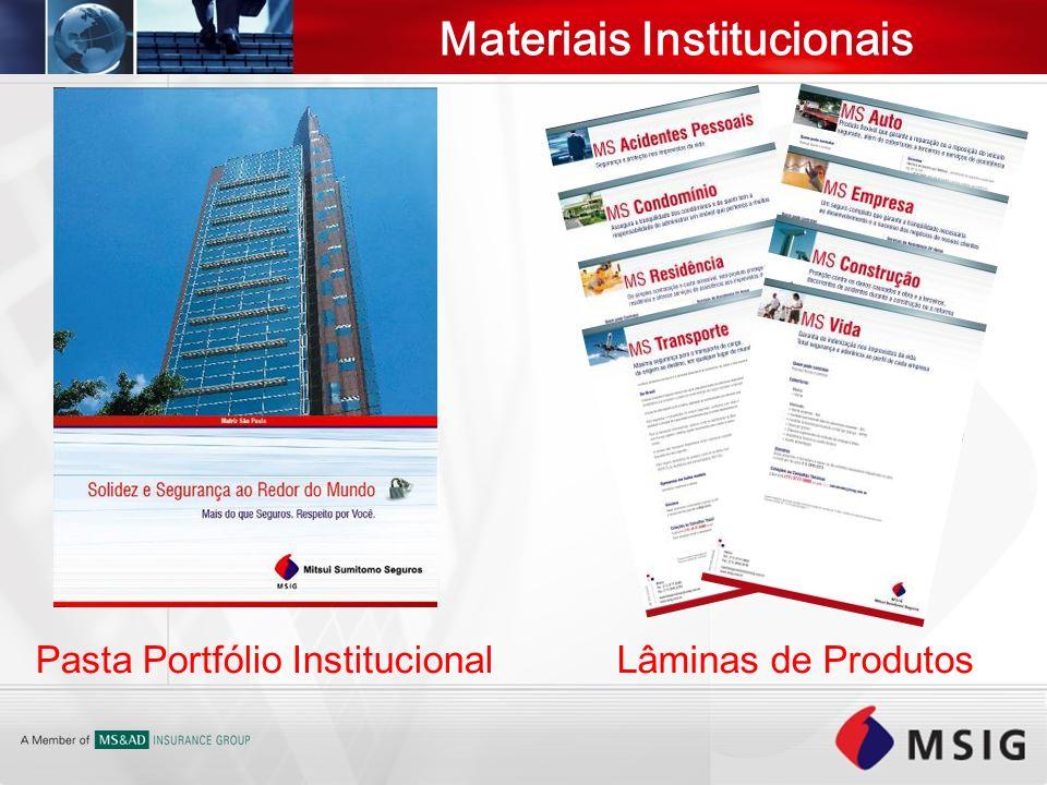 Materiais Institucionais Pasta Portfólio InstitucionalLâminas de Produtos