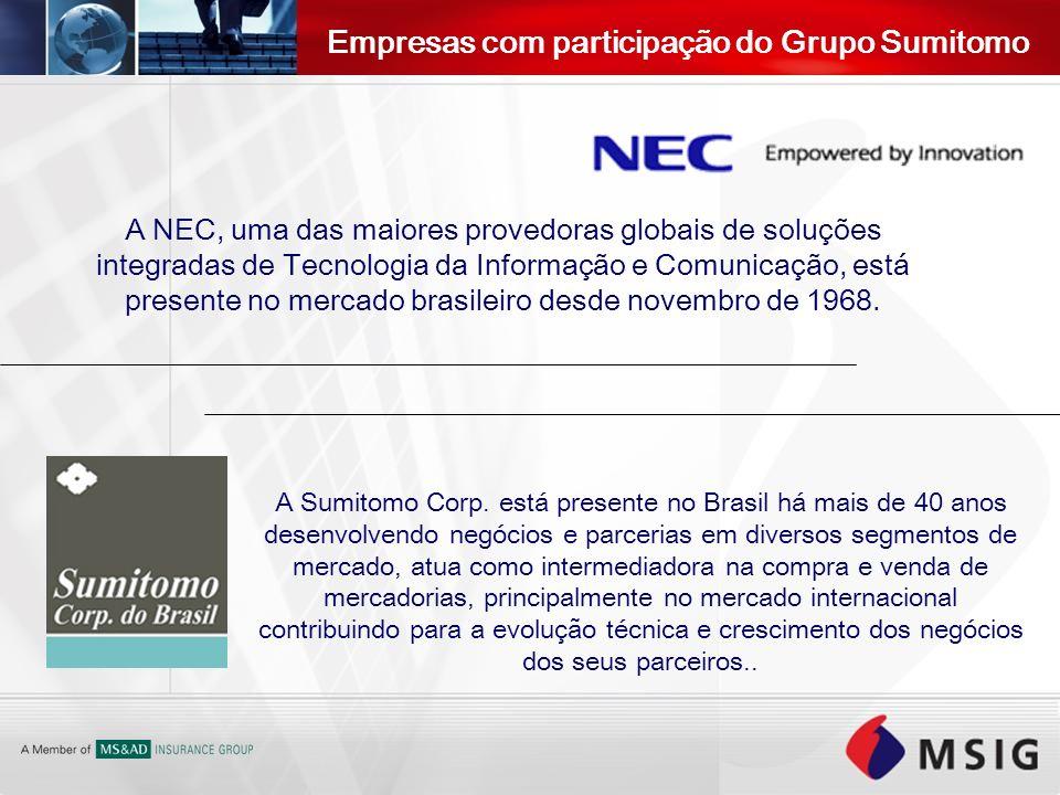 A NEC, uma das maiores provedoras globais de soluções integradas de Tecnologia da Informação e Comunicação, está presente no mercado brasileiro desde