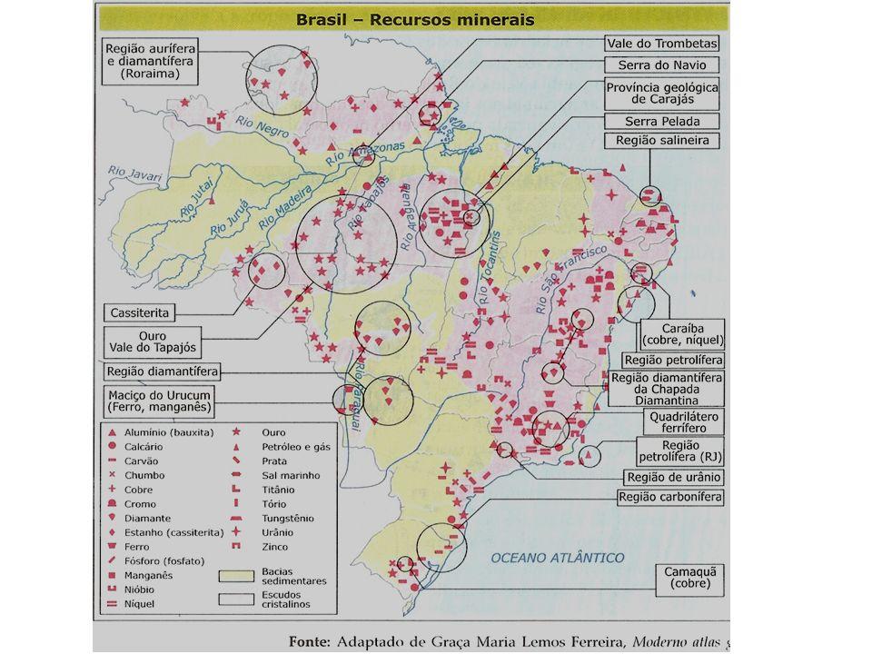 RECURSOS MINERAIS E SUA DISTRIBUIÇÃO – Escudos cristalinos Província geológica de Carajás.