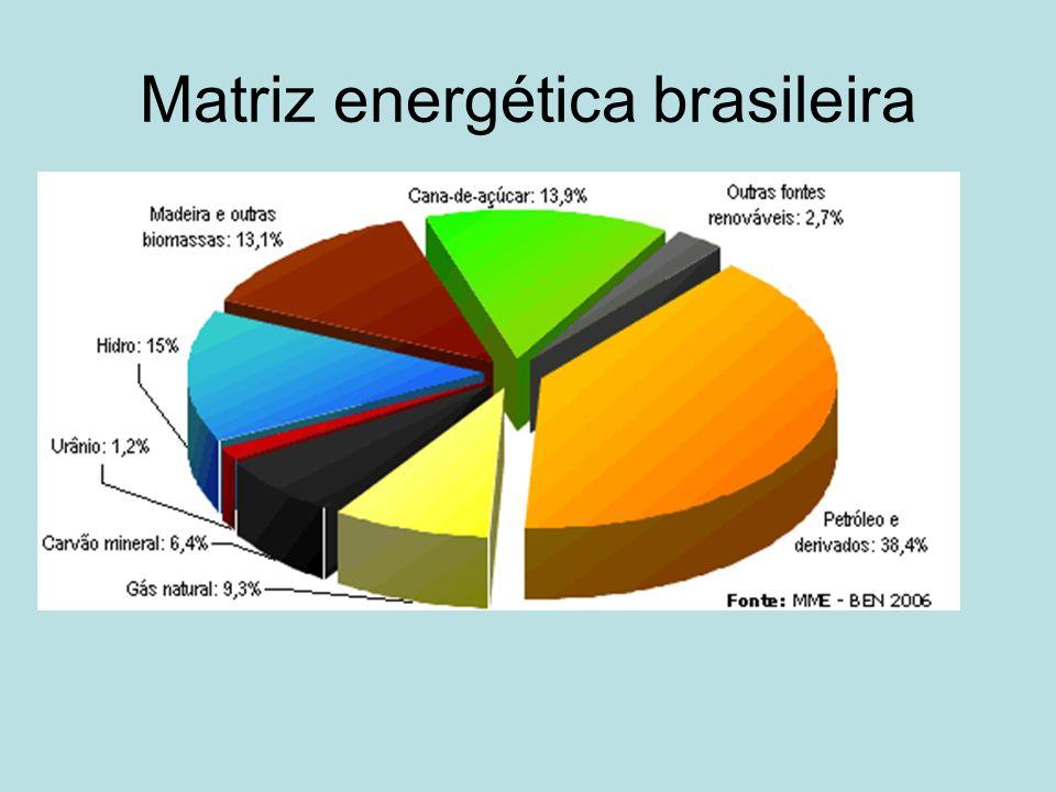 ENERGIA ELÉTRICA 90% Usinas hidrelétricas 10% Usinas termelétricas e nucleares Potencial hidrelétrico por bacia hidrográfica Bacias hidrográficasPotencial (MW) Bacia Amazônica106 051 Bacia Tocantins - Araguaia28 847 Bacia do São Francisco26 622 Bacia do Paraná61 400 Bacia do Uruguai 15 123 Bacia do Atlântico Sudeste 14 528 Bacia do Atlântico Sul 9 599 Bacia do Atlântico Leste 3 115