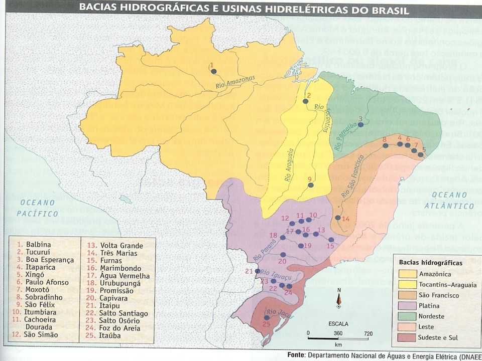 Mapa com representação simplificada da integração entre os sistemas de produção e transmissão para o suprimento do mercado consumidor Fonte: OPERADOR NACIONAL DOS SISTEMAS ELÉTRICOS - ONS.