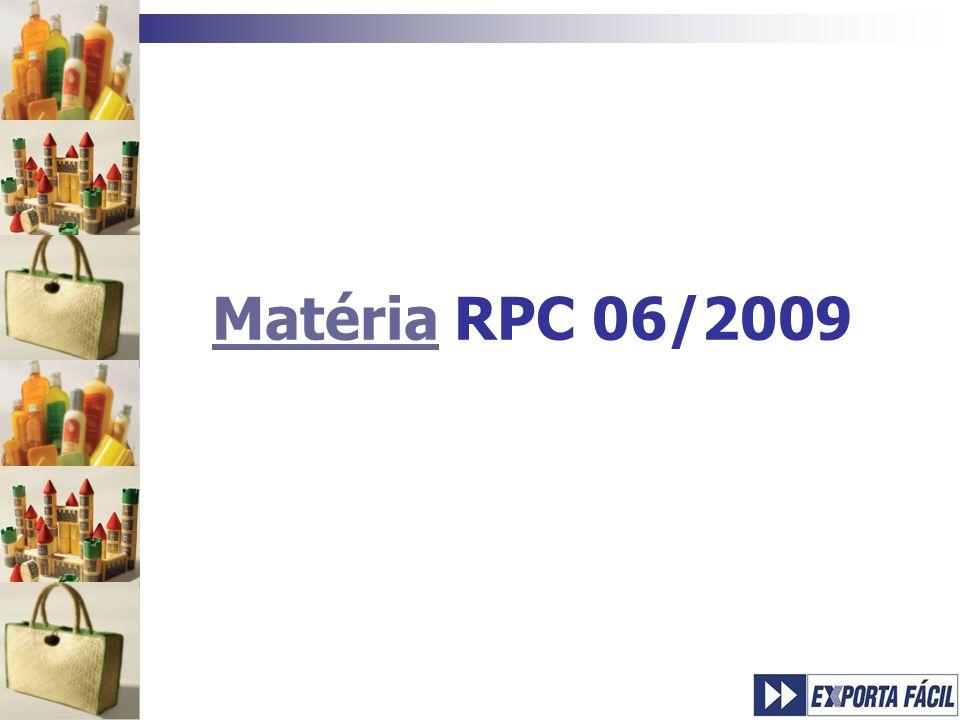 Matéria RPC 06/2009