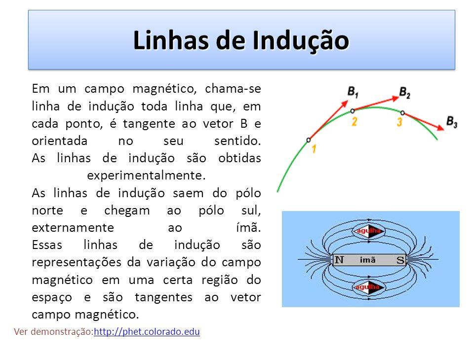 Intensidade do vetor B no interior do solenóide A intensidade do campo magnético pode ser determinada pela Lei de Ampére: Onde: B: módulo do vetor campo magnético (T) i: corrente elétrica ( A) N: nº de espiras L: comprimento do solenóide (m) 0 : permeabilidade magnética no vácuo = 4.10 -7 T.m/A