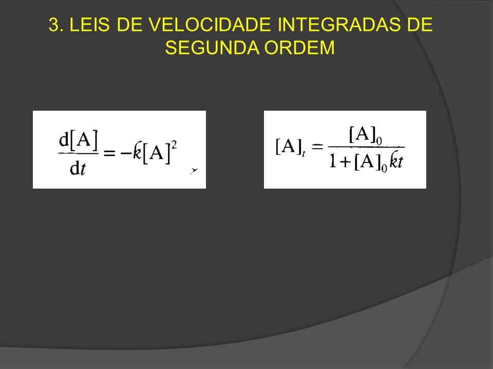 3. LEIS DE VELOCIDADE INTEGRADAS DE SEGUNDA ORDEM
