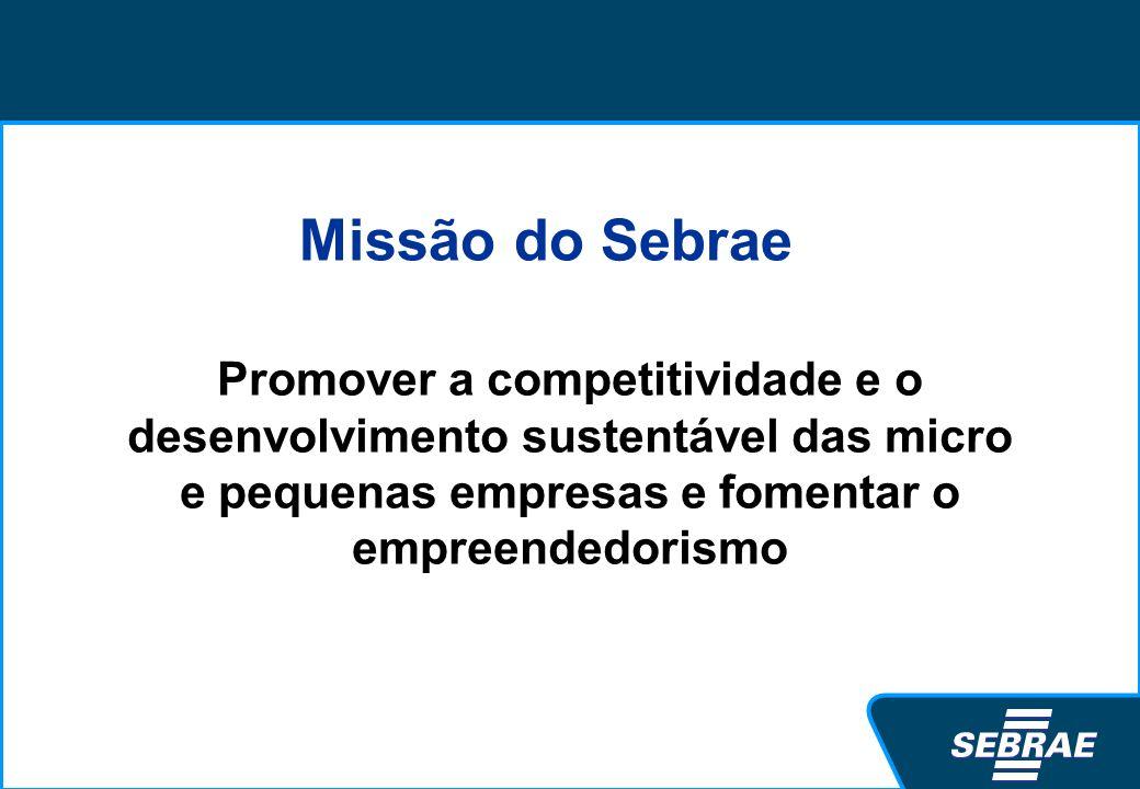 5,6 milhões de empresas (99%) e 10 milhões de informais 52,4% trabalhadores formais urbanos 39,7% da massa salarial 17% da arrecadação 14,5 mil MPE exportadoras * Janeiro 2009 As MPE no Brasil 3,2 milhões no Simples Nacional