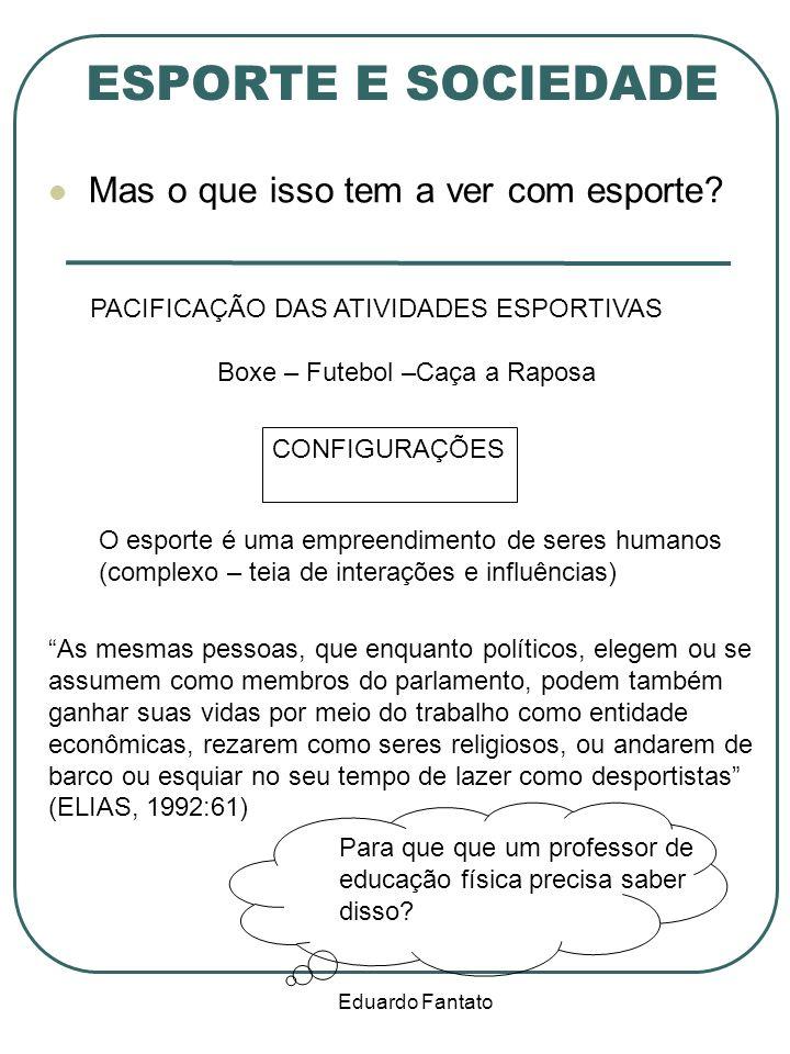 Eduardo Fantato ESPORTE E SOCIEDADE Mas o que isso tem a ver com esporte.