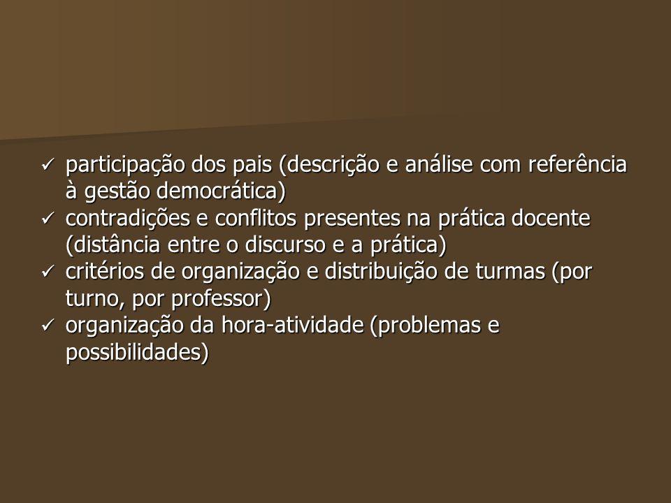 participação dos pais (descrição e análise com referência à gestão democrática) participação dos pais (descrição e análise com referência à gestão dem