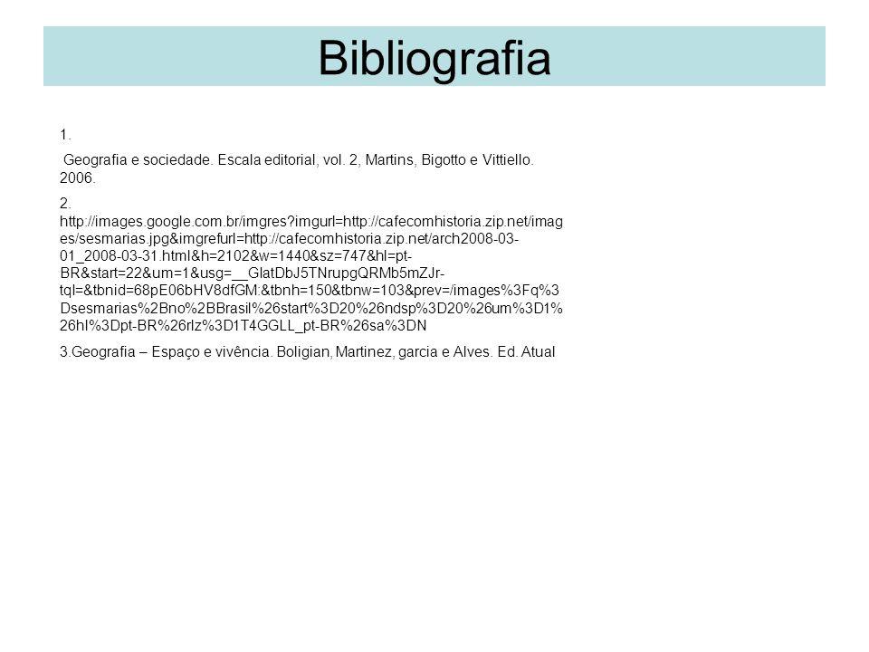 Bibliografia 1.Geografia e sociedade. Escala editorial, vol.