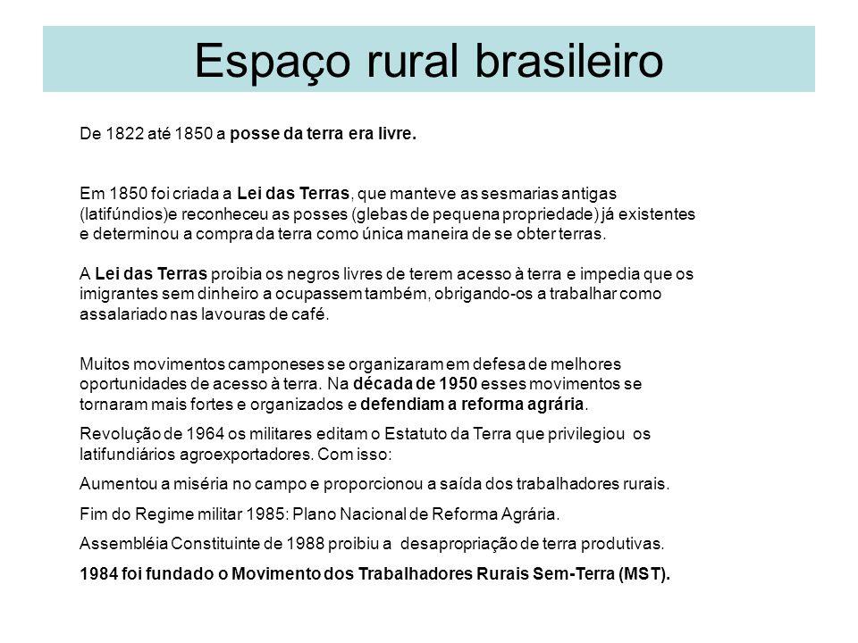 Espaço rural brasileiro Política agrícola e pecuária – cap.