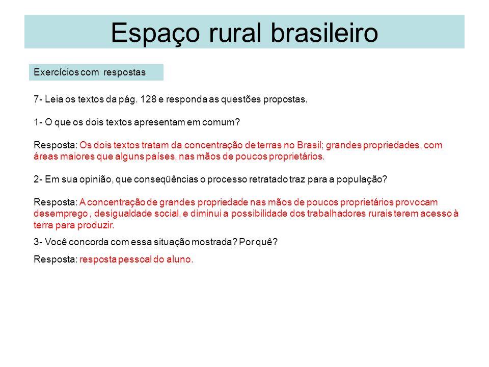 Espaço rural brasileiro Produção agrícola – cap.7.