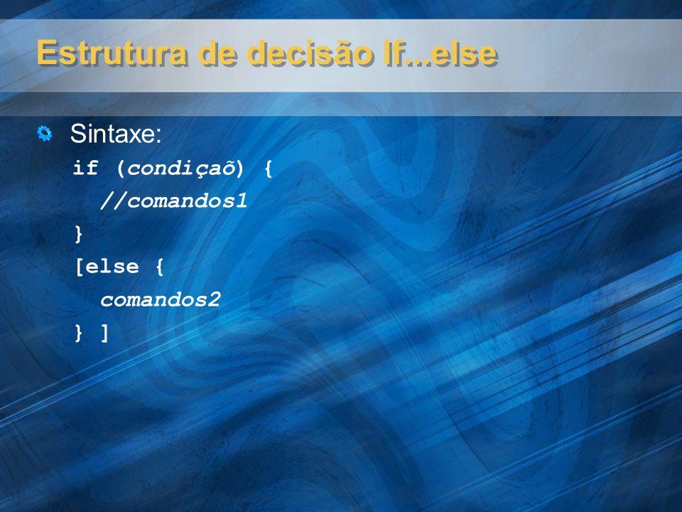 Laços for e while Sintaxe for( ) for(var i=1; i<=10; i++) { ; ; } Sintaxe while( ) while(condição){ ; ; }