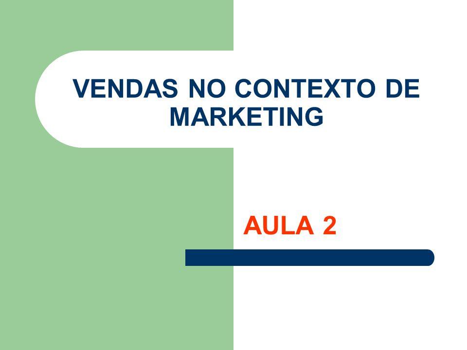 VENDAS NO CONTEXTO DE MARKETING AULA 2