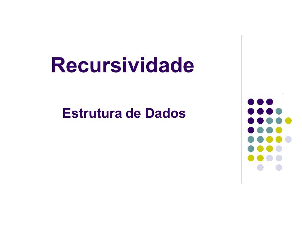 Recursividade Estrutura de Dados